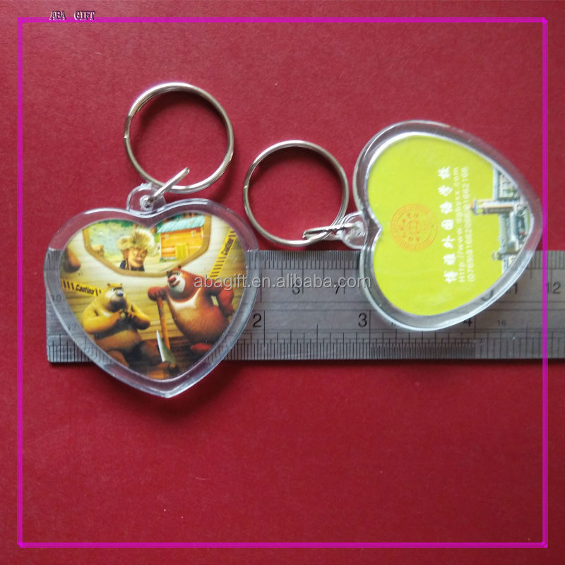 High Quality keychain photo insertable in heart shape