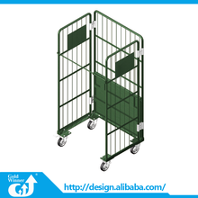 Foldable Stainless Steel Roll Container / Cage