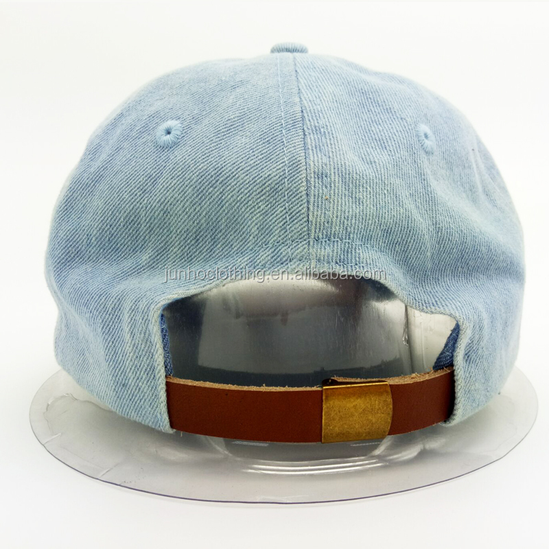 Copper buckle leather back strap hot selling snapback hats winter baseball cap