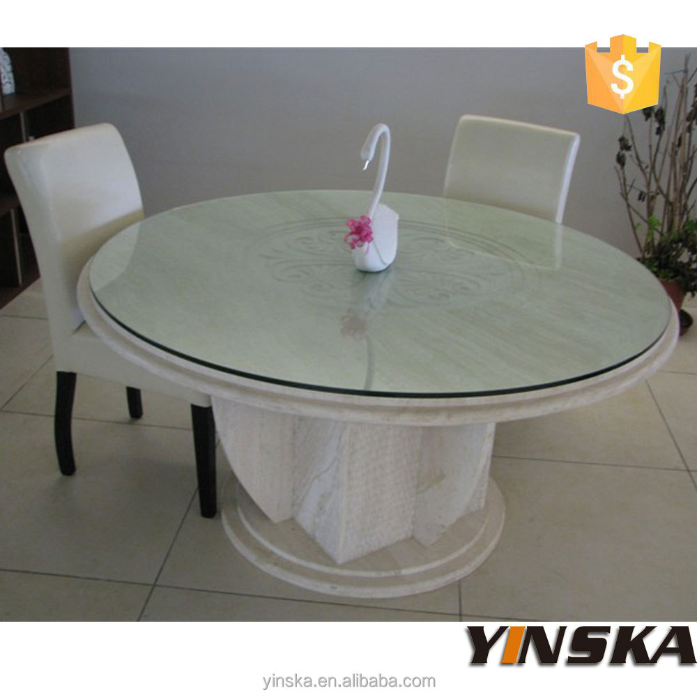 luxury marble stone top round dining table