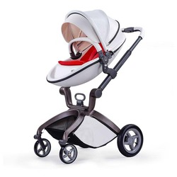 leather or 600D farbire high quality children stroller with carrycot baby stroller