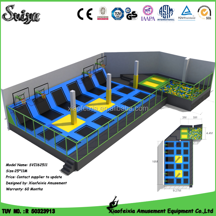 Gymnastics equipment large trampolines for sale with outdoor toys