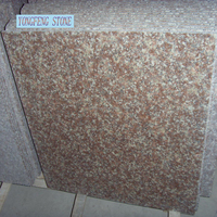 G687 Peach Red cheap granite slab tile polished flamed China Chinese