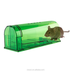 OEM brand Green Brown Plastic Smart Humane Rat Rodent Mouse Trap Box MouseTrap (2pcs/pack 4pcs/pack)No Kill Rats Live Catch