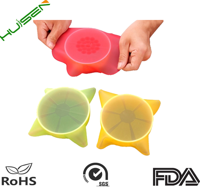 BPA free silicone wrap strech Film For Food round silicone wrap for food