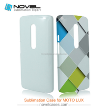 DIY sublimation 3D phone case for Moto LUX