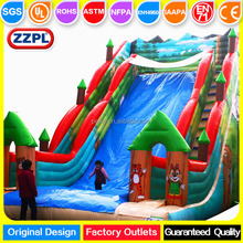 ZZPL Winter Snow Inflatable Toboggan Slide, Skiing Inflatable Slide for Christmas Holidaly