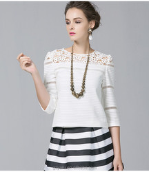 Women fashion tops 2014 spring summer blouses 2015
