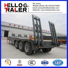 80tons heavy duty lowbed off road truck trailer