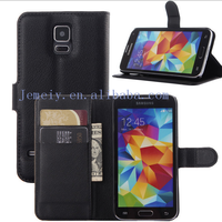 New Fashion Top Quality Luxury PU Leather Case for Samsung Galaxy S5 SV I9600 Wallet Holster Phone Cover for Samsung Galaxy S5