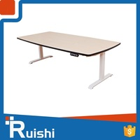 Metal frame wood office manager desk or table