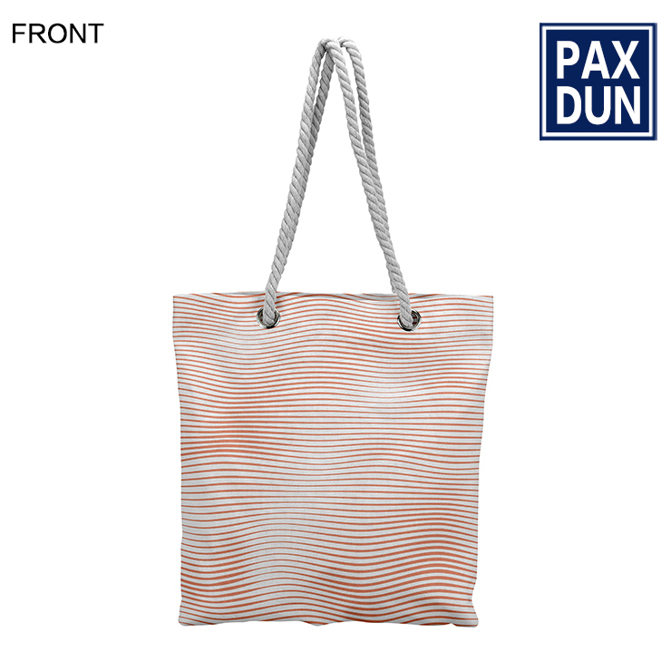Sublimation Print Monogram Blank Canvas Tote Bag