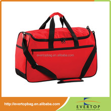 Botton layer red luggage 600d polyester baggallini travel bag