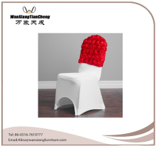 Fashionable Cheap Wholesale Spandex Satin Rosette Chair Cover Chair Cap/ Chair Cover for Wedding