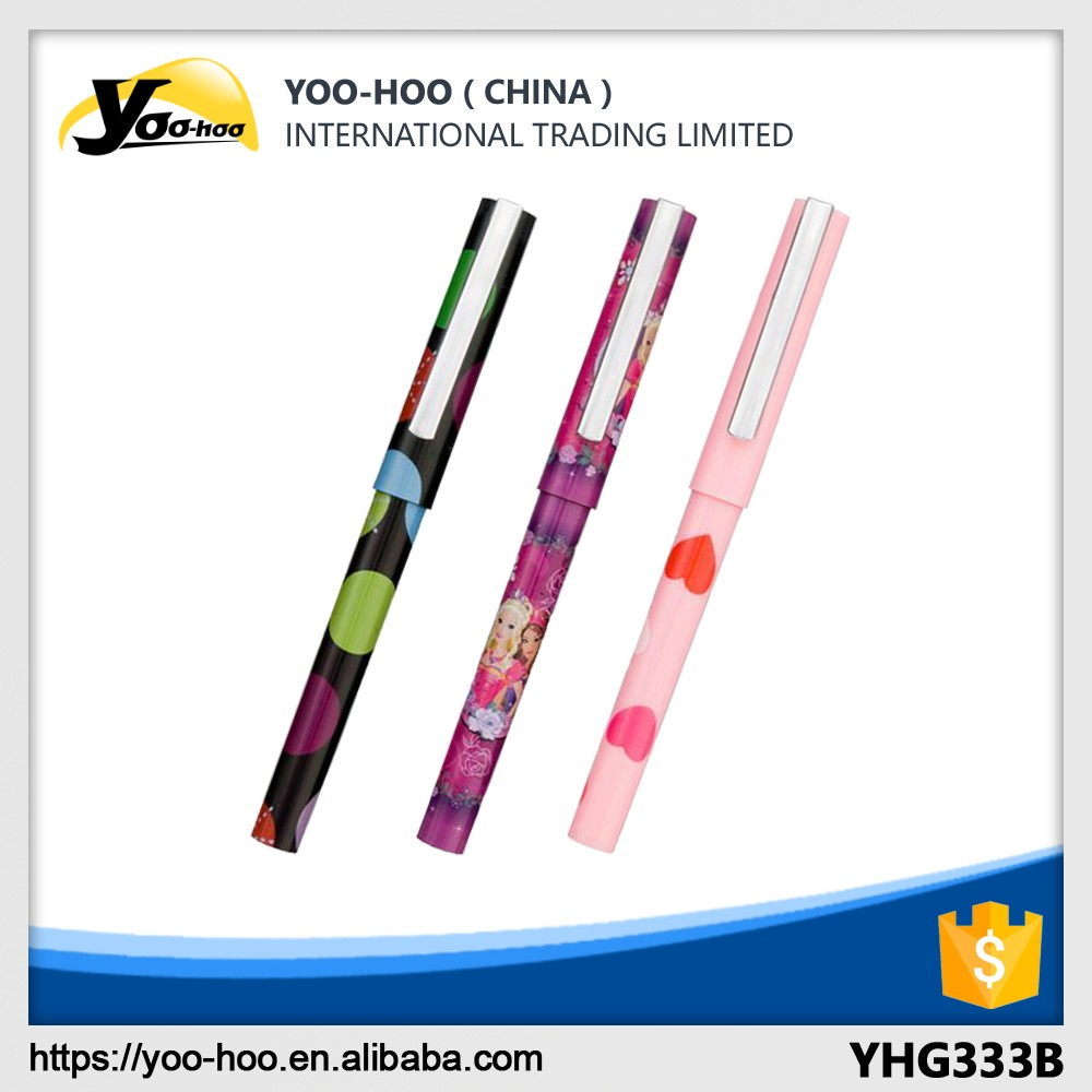 Color plastic fountain pen for office and students