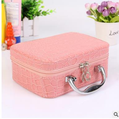 High quality wholesale fashion make-up printing Pu cosmetics bag square crocodile bag leopard pattern cosmetic bags
