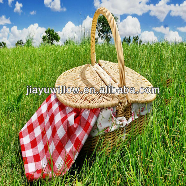 2016 Linyi HOT weaving bamboo picnic basket with handles