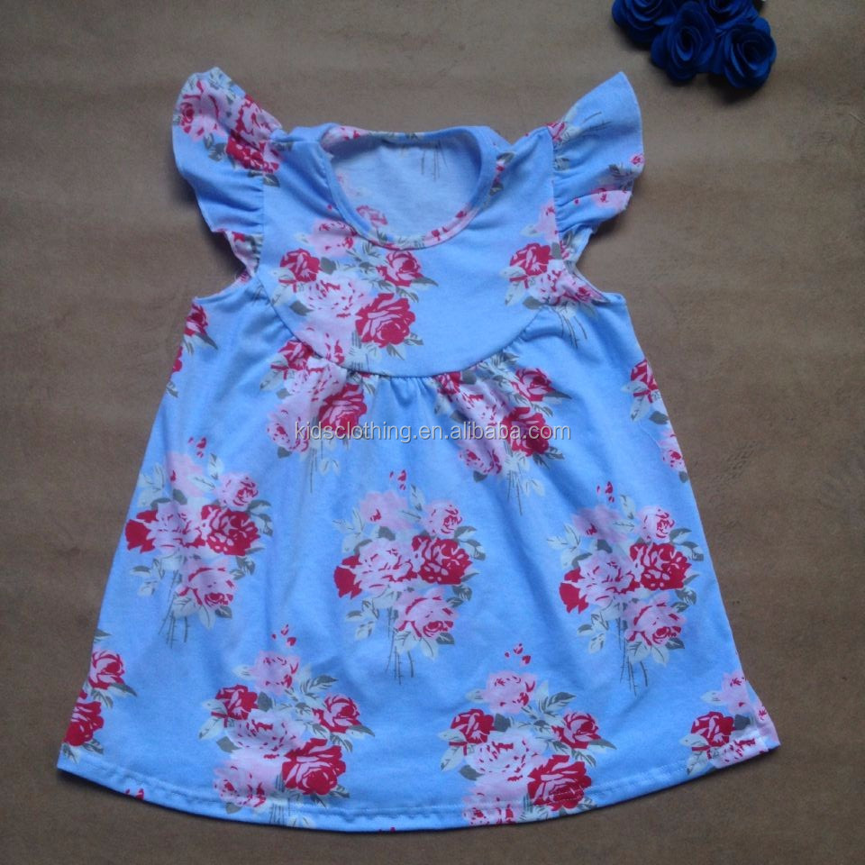 china factory direct sale kids clothes lovely children's clothing girls cotton dress designs fancy frocks