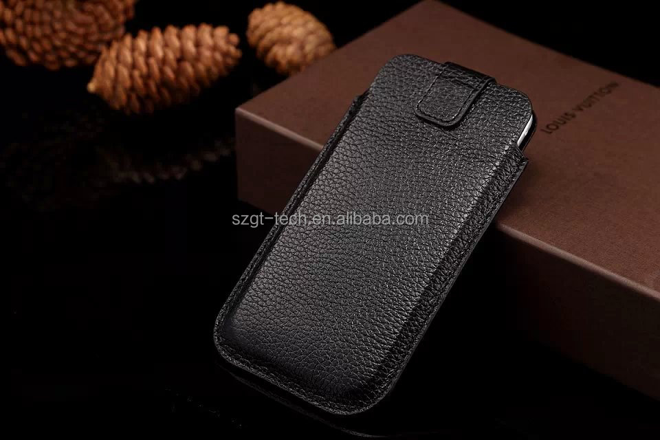 Alibaba wholesale Litchi pattern Wallet Vertical Universal Pouch bag pu Leather Cellphone Case For iphone 6 6s Plus