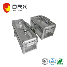 Clear Show Square Aluminum Case With Comfortable Handle