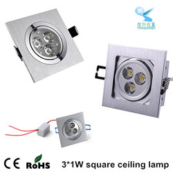 best price daylight square shape recessed led spotlight led ceiling downlight