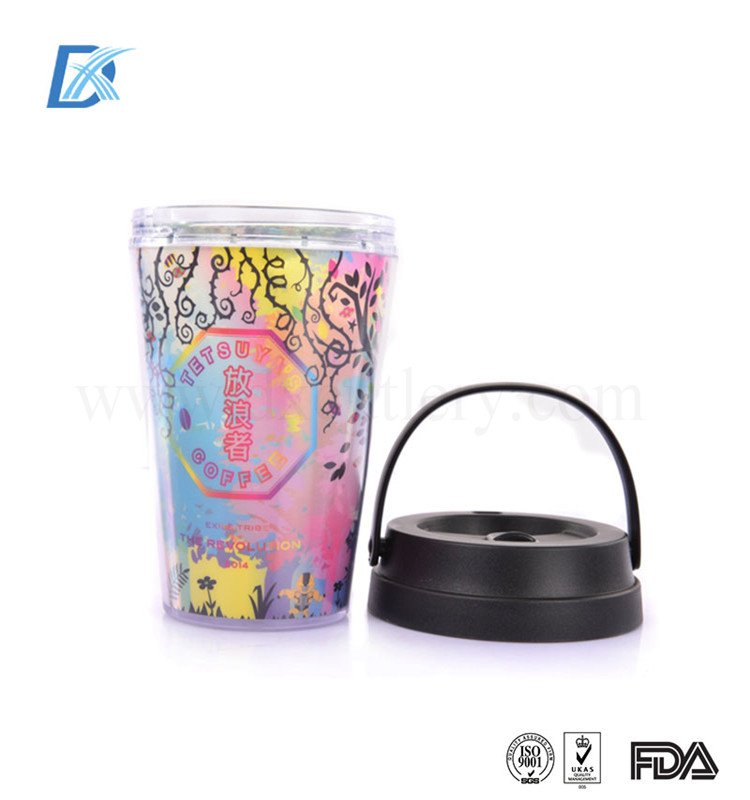 Best Quality Professional Double Walled Thermal Plastic Sports Drinking Cup With Lid And Straw