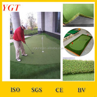 YGT golf putting green synthetic mat porous rubber mat