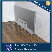 Home decorative profile vinyl floor wall edge aluminum skirting board