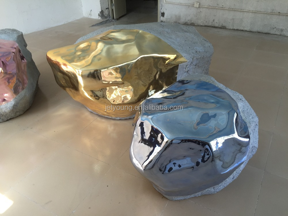 chrome paint on stone, gold chrome <strong>spray</strong> on stone, <strong>spray</strong> chrome on stone.