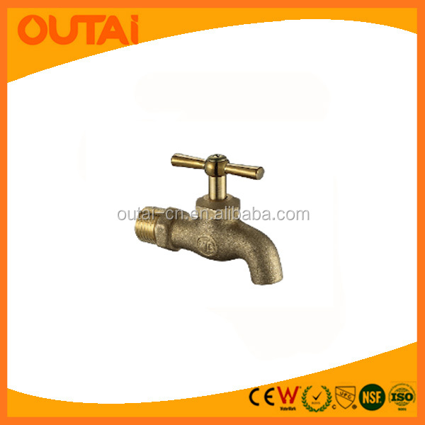 Chrome Plating Cast Brass Stop Bibcock Taps with T-handle water tap garden faucet