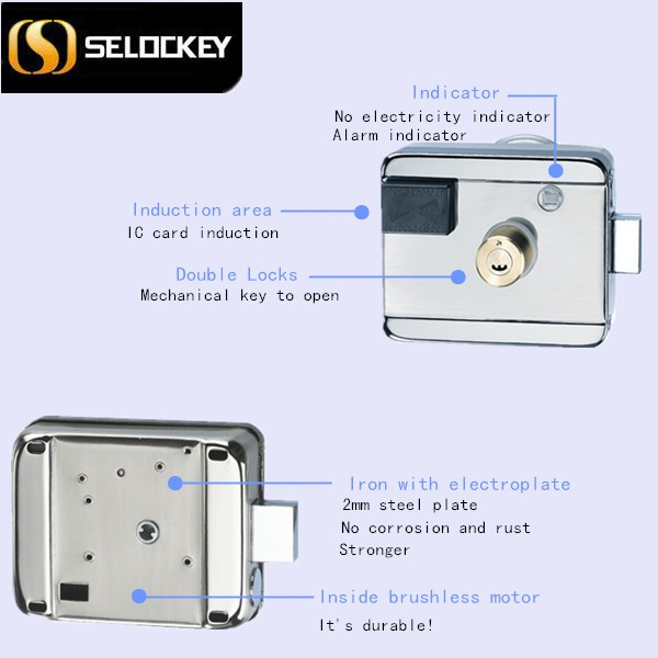 Burglar proof electronic lock foor doors Euro standard Single open key brass door lock cylinder (LY09BM6B1)