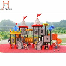 Low price large outdoor plastic slide kids playground equipment
