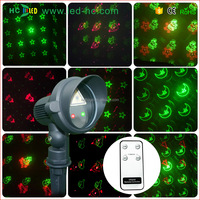 New products 2016 outdoor Red & Green dynamic pattern laser light 3W decoration for garden outdoor christmas laser lights