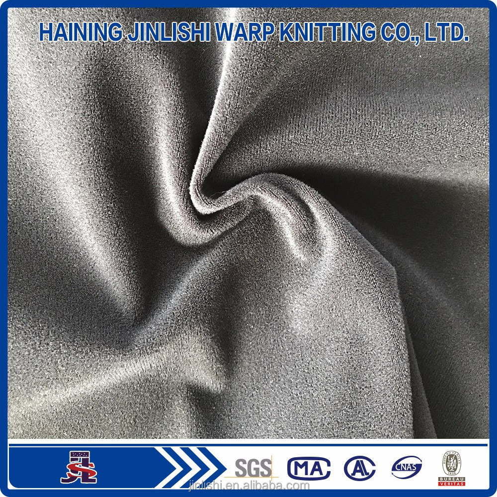 Factory Fleece Polyester Brushed Tricot Warp Knitted Super-Soft Fabric