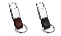 best selling custom small genuine leather key chains leather key holders