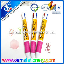 4 color ball pen with highlighter for child