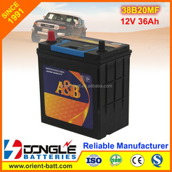 Factory Wholesale Cheapest Car Batteries 38B20 SMF 12V 36Ah