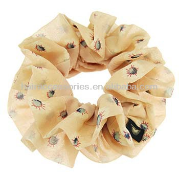 Hot selling optional color Yarn flower nail bead hair tie for female