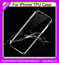 JESOY Clear Waterproof Soft TPU Case Cover,TPU Gel Case For iphone 6, TPU Back Case Cover for Apple iphone 6 4.7