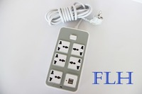 Factory price Multi way extension universal socket outlet with usb