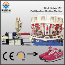 Single-color Plastic Sole Injection Molding Machine With Turn Over Shoe Last Automatically