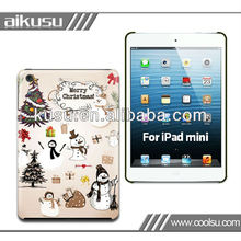 2013 pc colorful case for ipadmini with Christmas theme