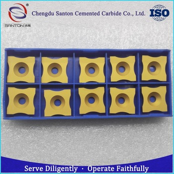 wear resistant SPUB 63 series carbide tube scarfing inserts