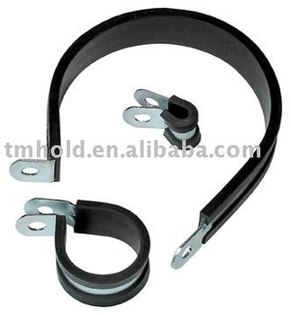 Fixing hose clamps with rubber cushioned