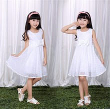 high quality competitive price girl frocks design dress 2014 good kids girl veil children dress party