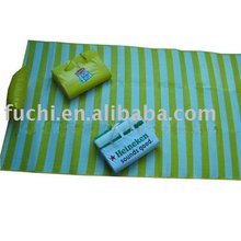 Folding Plastic Beach Mat with Pillow