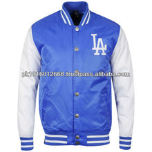 Men's LA Dodgers Bleacher Satin Jacket - Blue