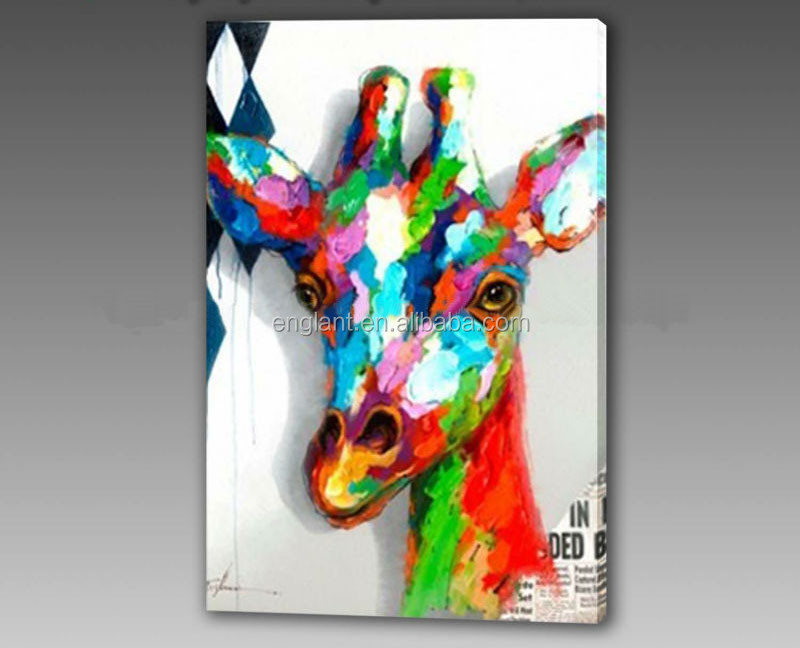 Modern style and oil medium deer painting animal picture