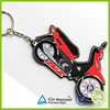 2016 Unique style 2d rubber motorcycle keyrings