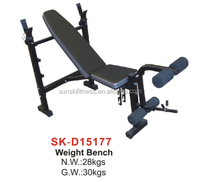 Fitness Weight bench with Leg developer, dumbbells for body workout , Home exercise, for club used.